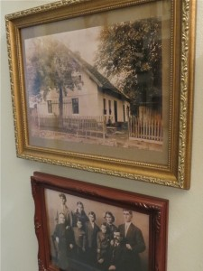 House in Germany where my maternal grandfather was born, and a group photo of his parents and siblings